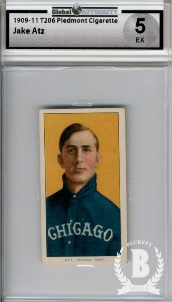 1909-11 T206 #14 Jake Atz
