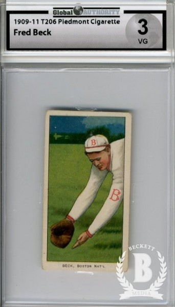1909-11 T206 #27 Fred Beck