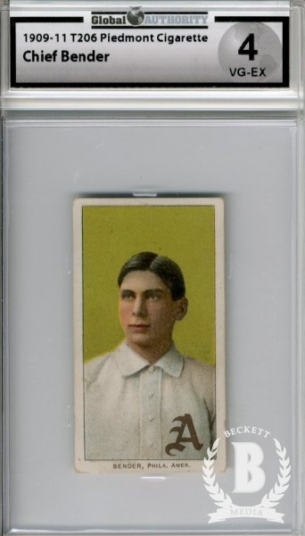 1909-11 T206 #34 Chief Bender Portrait