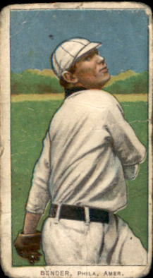 1909-11 T206 #33 Chief Bender/Pitching Trees in Back