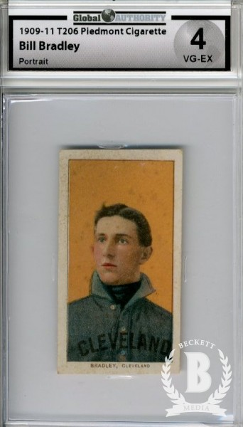 1909-11 T206 #46 Bill Bradley Portrait