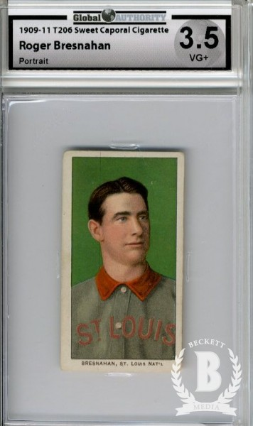 1909-11 T206 #51 Roger Bresnahan Portrait