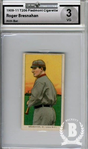 1909-11 T206 #52 Roger Bresnahan with Bat