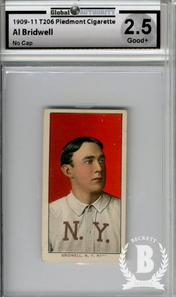 1909-11 T206 #53 Al Bridwell No Cap