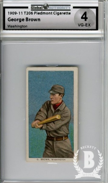1909-11 T206 #56 George Brown (Browne) Washington