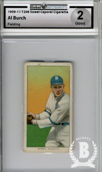 1909-11 T206 #61 Al Burch Fielding