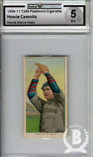 1909-11 T206 #70 Howie Camnitz Hands above Head