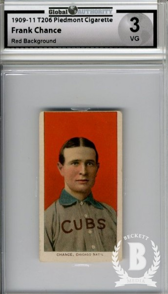 1909-11 T206 #78 Frank Chance Portrait Red