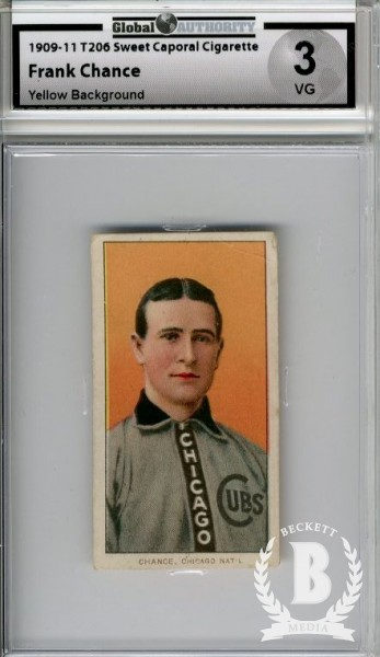 1909-11 T206 #79 Frank Chance Portrait Yellow