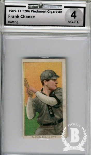 1909-11 T206 #77 Frank Chance Batting