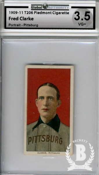 1909-11 T206 #91 Fred Clarke Portrait