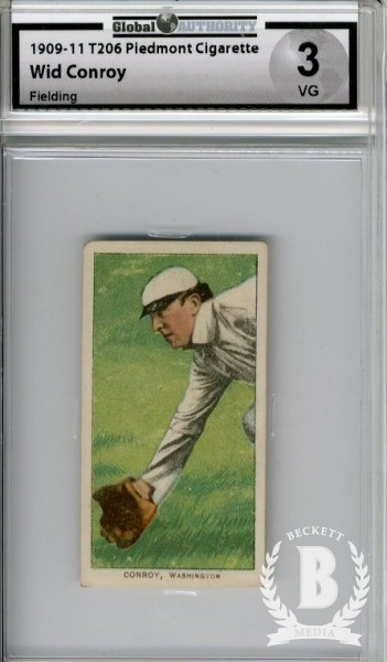 1909-11 T206 #103 Wid Conroy Fielding