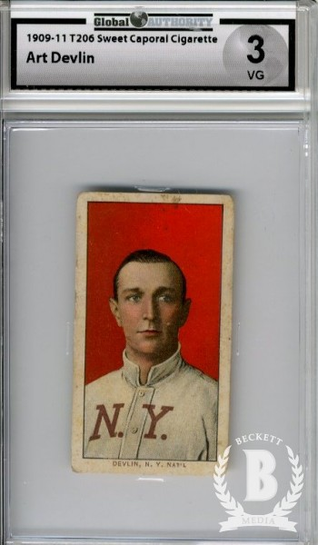 1909-11 T206 #127 Art Devlin