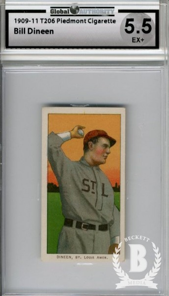 1909-11 T206 #129 Bill Dineen