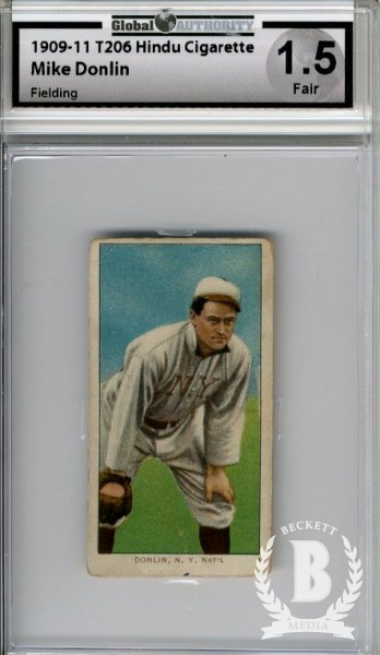 1909-11 T206 #130 Mike Donlin Fielding