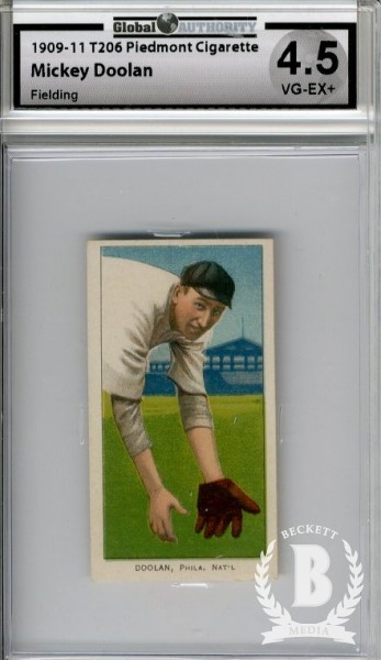 1909-11 T206 #138 Mickey Doolan Fielding