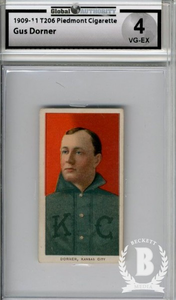 1909-11 T206 #140 Gus Dorner ML