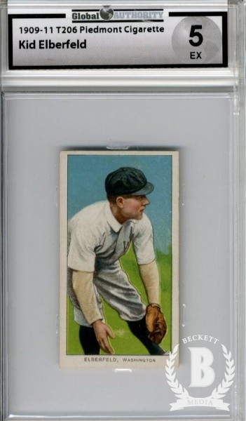 1909-11 T206 #160 Kid Elberfeld Fielding