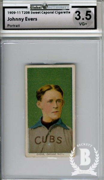 1909-11 T206 #166 Johnny Evers Portrait