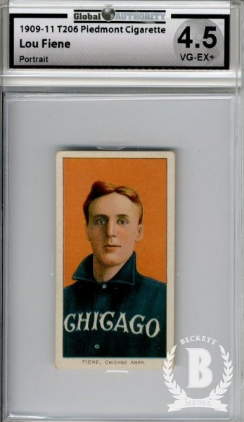 1909-11 T206 #172 Lou Fiene Portrait