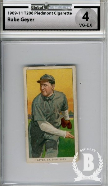 1909-11 T206 #187 Rube Geyer