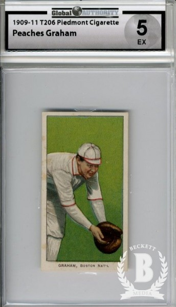 1909-11 T206 #192 Peaches Graham Boston