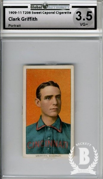 1909-11 T206 #196 Clark Griffith Portrait
