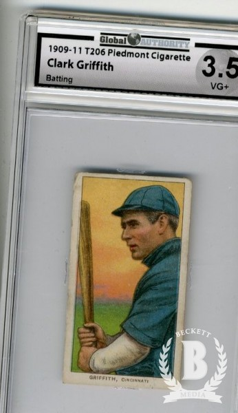 1909-11 T206 #195 Clark Griffith Batting
