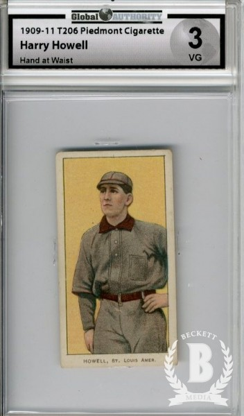 1909-11 T206 #222 Harry Howell Hand at Waist