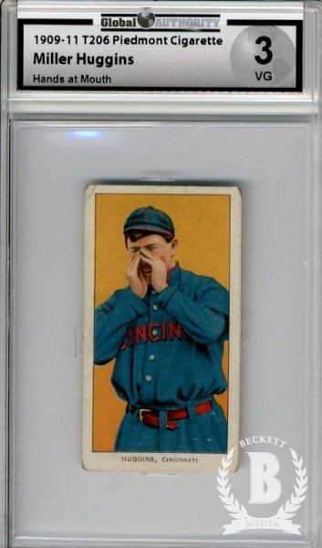 1909-11 T206 #224 Miller Huggins Hands at Mouth