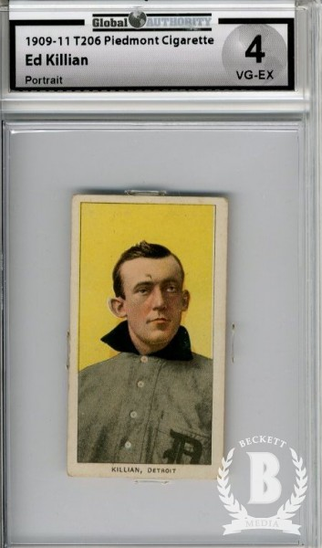 1909-11 T206 #252 Ed Killian Portrait