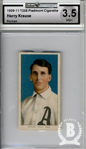 1909-11 T206 #265 Harry Krause Portrait