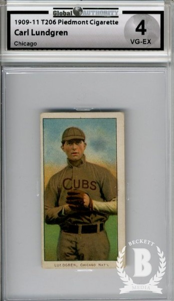 1909-11 T206 #292 Carl Lundgren Chicago
