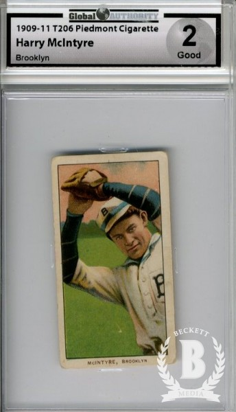 1909-11 T206 #324 Harry McIntyre Brooklyn