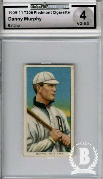 1909-11 T206 #352 Danny Murphy Batting