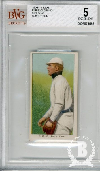 1909-11 T206 #367 Rube Oldring Fielding