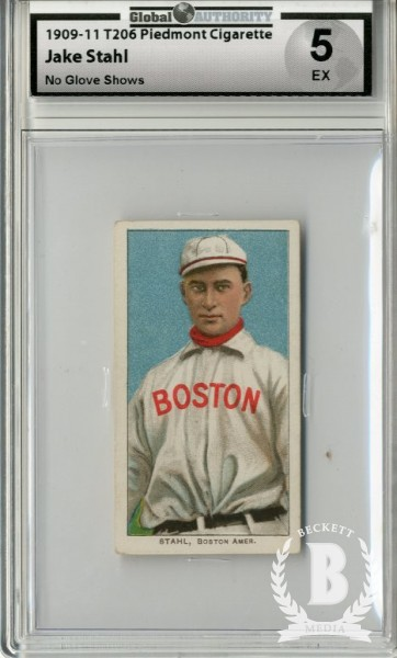 1909-11 T206 #461 Jake Stahl No Glove Shows