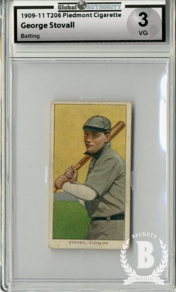 1909-11 T206 #469 George Stovall Batting
