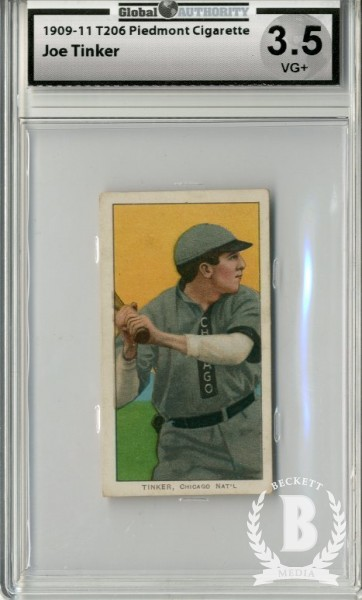 1909-11 T206 #487 Joe Tinker Bat off Shoulder