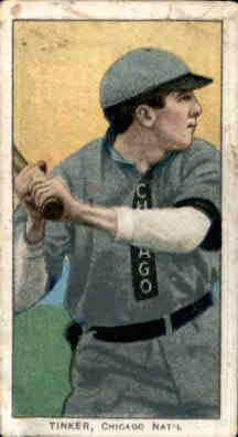 1909-11 T206 #488 Joe Tinker/Bat off Shoulder