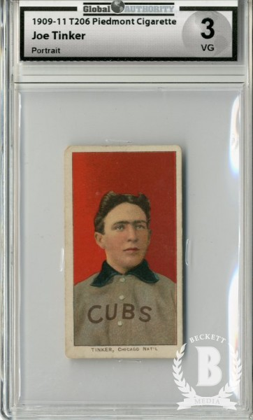 1909-11 T206 #490 Joe Tinker Portrait