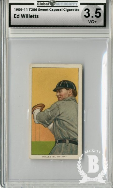 1909-11 T206 #513 Ed Willetts Throwing (Willett)