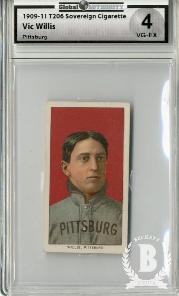 1909-11 T206 #515 Vic Willis Pittsburgh Portrait