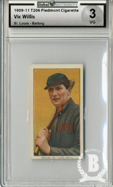 1909-11 T206 #517 Vic Willis St. Louis with Bat