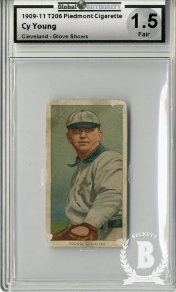1909-11 T206 #525 Cy Young/Glove Shows