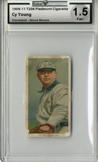 1909-11 T206 #524 Cy Young Glove Shows front image