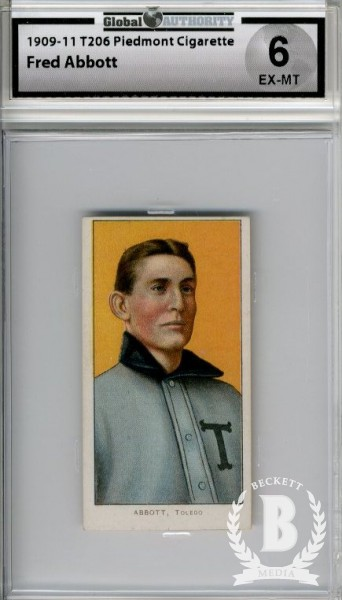 1909-11 T206 #3 Fred Abbott ML