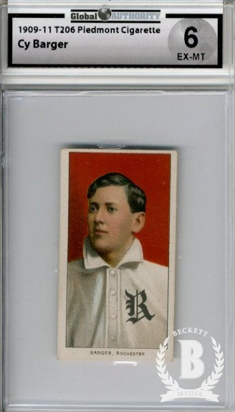 1909-11 T206 #19 Cy Barger ML