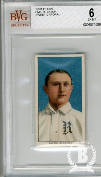 1909-11 T206 #23 Emil Batch ML