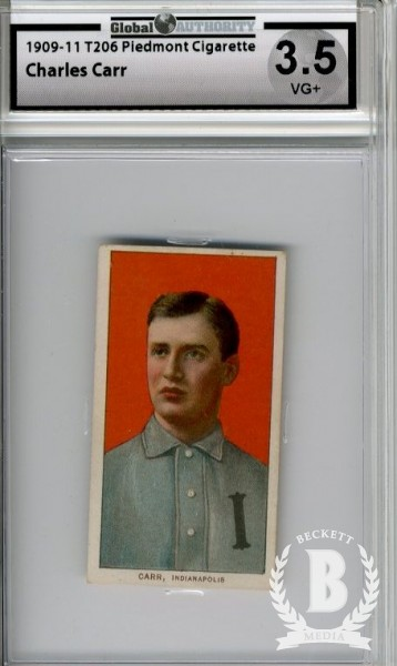 1909-11 T206 #73 Charley Carr ML